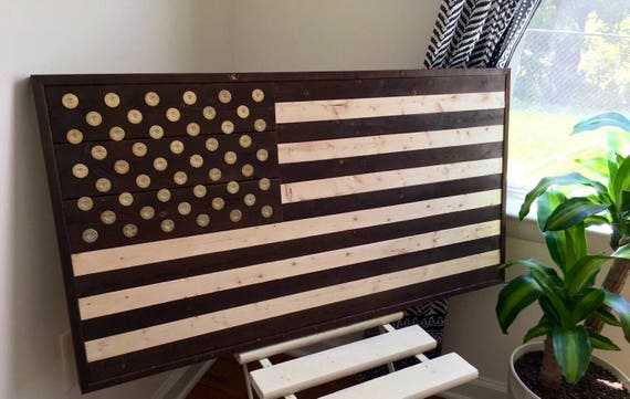 Wood American Flag Wall Art burned reclaimed wood american flag wall art with winchester