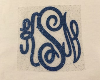 FREE SHIPPING - DIY Iron-on Monogram ... Circle script.... Master Font