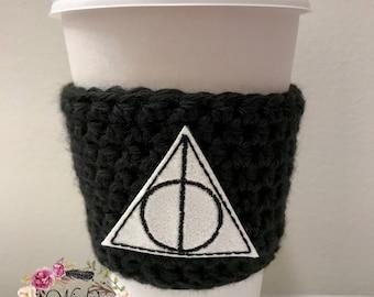 """The """"Wizard"""" Cozies / Coffee Cozie / Tea Cozie / Tumbler Cozie / Crochet Cozie"""