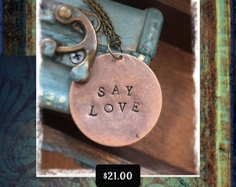 Say Love Avett Brothers Necklace