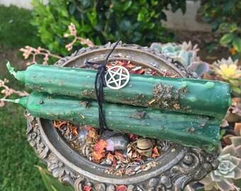 Money Drawing Candle Bundle ~ Money Drawing ~ Prosperity ~ Abundance ~ Ritual Candles