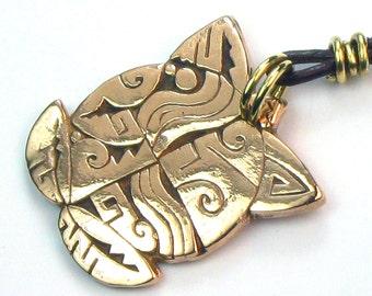 Native American Tortuga Bronze Pendant - Southwest Turtle Bronze Pendant - Bronze Turtle Keyring - Unique Southwest Tortuga Pendant Gift