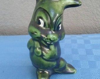 Green Rabbit figurine