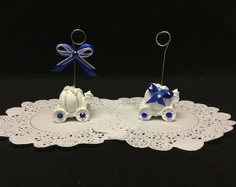 Decorated Cinderella Carriage Place Card Holder, Quince, Sweet 16 (Set of 10)