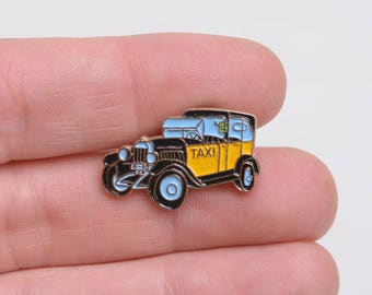 taxi, taxi lapel pin, lapel pin, car enamel pin, lapel pin button, lapel pin, enamel pin, urban lapel pin, city enamel pin