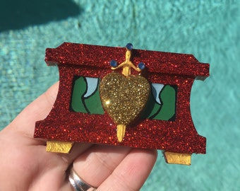 Evil queen brooch