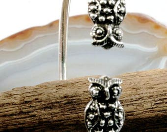 Owl bangle in 925 sterling silver    --    Eule Armreif in 925 Sterling Silber  2471