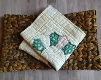 Vintage Quilt Layering Piece/Newborn Photo Prop/READY TO SHIP