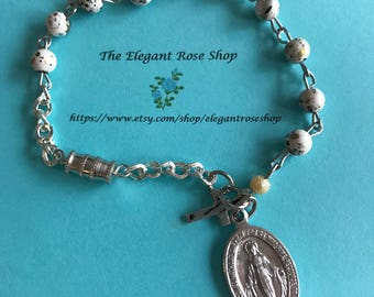 Beautiful One Decade Rosary Bracelet