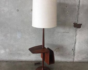 Mid Century Modern Laurel Floor Lamp with Table and Magazine Holder (CXVDJ3)