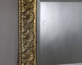 Pressed Brass Rectangular Mirror