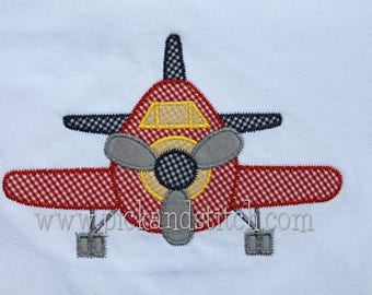 SAMPLE SALE: Personalized Appliqued Airplane on Tshirt, Bodysuit, Romper or Bubble, Boys Airplane Applique, Boys Airplane Tshirt