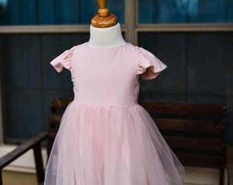 Blush Pink Ballerina Dress - Size 2T Ready to Ship!