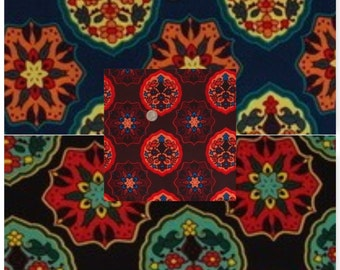 "Retro Floral Poly Spandex FDY Jersey Knit Fabric""FDYX2J-3680"""