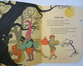 A Pumpkin Full of Poems illustrated by Sheilah Beckett Halloween Picture Book
