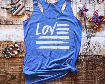 American Flag Tank Top. Country Music Shirt. Country Music. Festival Clothing. Stars and Stripes. Music Festival. Memorial day. 4th of m8
