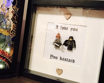 Game of Thrones Gift Frame with Jon Snow & Ygritte