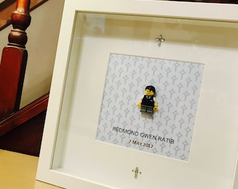 First communion gift - Lego frame - customable!