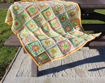 Crochet Granny Square Toddler/Pushchair Blanket