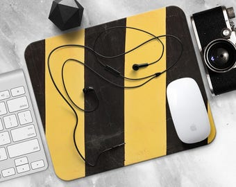 Road Mouse Pad Sign MousePad Metal Mouse Mat Yellow Black MousePad Office Gift Desk Decor Office MousePad Style MouseMat Design MousePad
