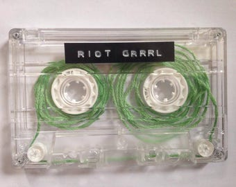 Riot Grrrl Cassette tape with optional tote