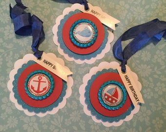 Nautical birthday gift tags