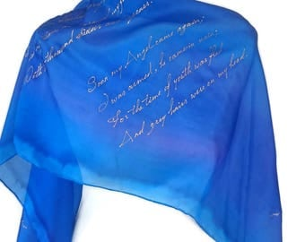 William Blake Poetry Poetry Scarf