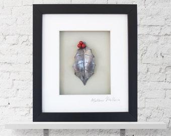 Wall Art:  Framed Holly Leaf