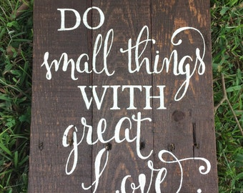 Great Love Wood Sign