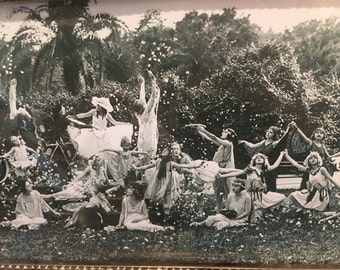 """Vintage Photograph titled, """"Land of Flowers"""""""