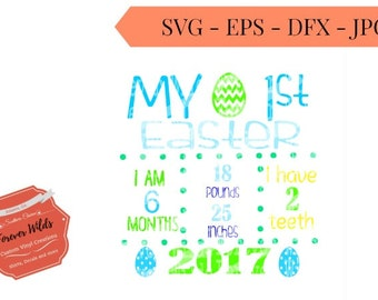 Easter svg - First Easter SVG - Easter Baby SVG Design - birth stats svg -birth announcement svg- babys first easter svg -info no