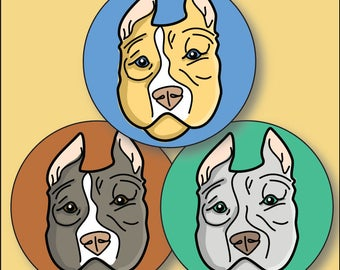 Pitbull Face Etsy