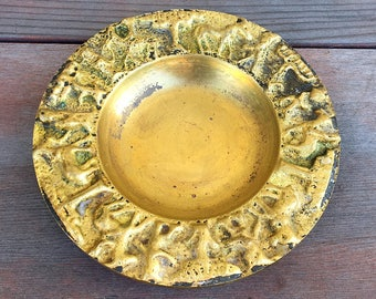 Vintage Israel Brass Trinket Dish