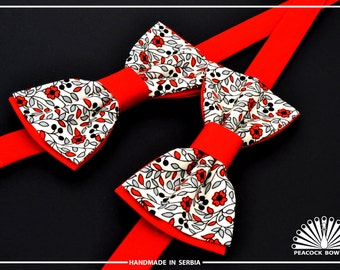 Red Black White Bow Tie. Bow tie for men. Bow ties for kids.  Bow tie for wedding. Bow Tie for Boys.  Bow Ties for Baby.