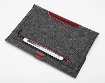 Laptop case for laptop 13 inch cover felt laptop sleeve computer case felt computer 13 inch cover leather laptop case felt laptop bags 15.6