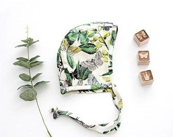 Butterflies Garden Organic Cotton Bonnet
