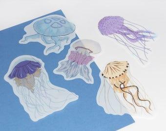 Transparent Jellyfish stickers