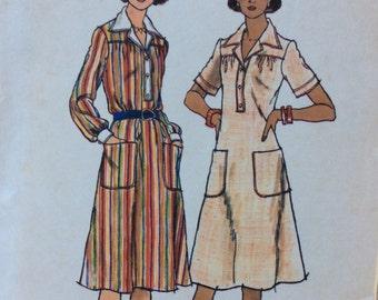 Butterick 4638 misses A-line dress size 10 bust 32 1/2 vintage 1970's sewing pattern  Uncut  Factory folds