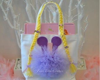 Medium Size Rapunzel Inspired Tutu Tote - Tangled Party