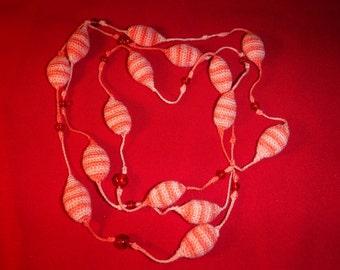 crochet necklace-SALE