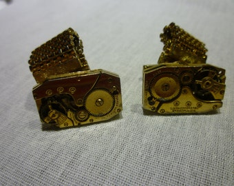B79 Vintage Watch Gear Cuff Links.