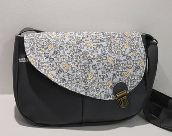 Satchel Tairie grey flowery rabat