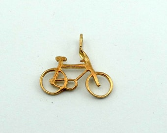 Peddle Through Life In Style With This Vintage 14K Solid Gold Bicycle Charm/Pendant!  #BICYCLE-GCM-1