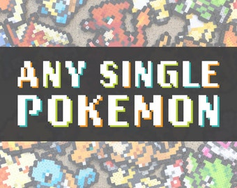 Any Single Pokemon | Perler Bead | Fuse Bead | 8bit | Nintendo | Sprite