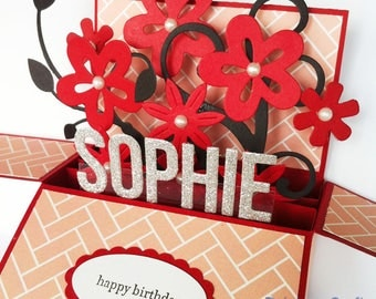 Birthday Card girlfriend, Anniversary Card, Love card, Valentines card, Retirement Card, friendship card | Name & sentiments Personalized