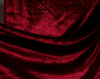 Vintage 70's 80's Jonathan Logan stretch cotton/synthetic blend velvet - maroon wine color deep ruby red w original tag
