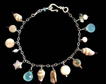 SEASIDE Charm Bracelet Sterling Silver