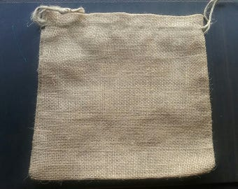 """20 Burlap bags 7"""" x 7"""" for candles handmade soap wedding packaging"""