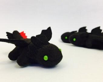 Handmade Plush Dragons- Toothless