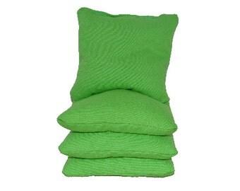 Lime Green Cornhole / Corntoss Bags (4 Bags Included) | Corn Hole Bags | Bag Toss | Corn Toss | Bean Bag Toss | Bean Bag